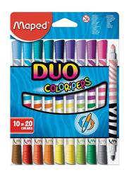Maped Color'Peps Felt Tip Duo Coloring Pen, Multicolor
