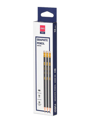 Deli Graphite Pencil Eraser, Blue