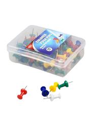 Deli Desk Office Series Push Pin, 100 Pieces, Multicolor