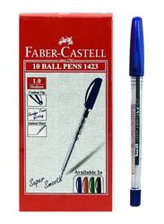 Faber-Castell 10-Piece Ballpoint Pen Set, Blue