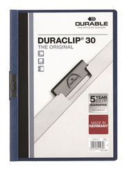Durable Duraclip 2200-07 30-Sheets Capacity Clip File, A4 Size, Dark Blue