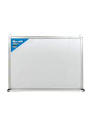Deli Magnetic White Board with Aluminum Frame, 60 x 90cm, White