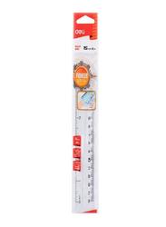 Deli 15cm Anti-Slip Ruler, Clear