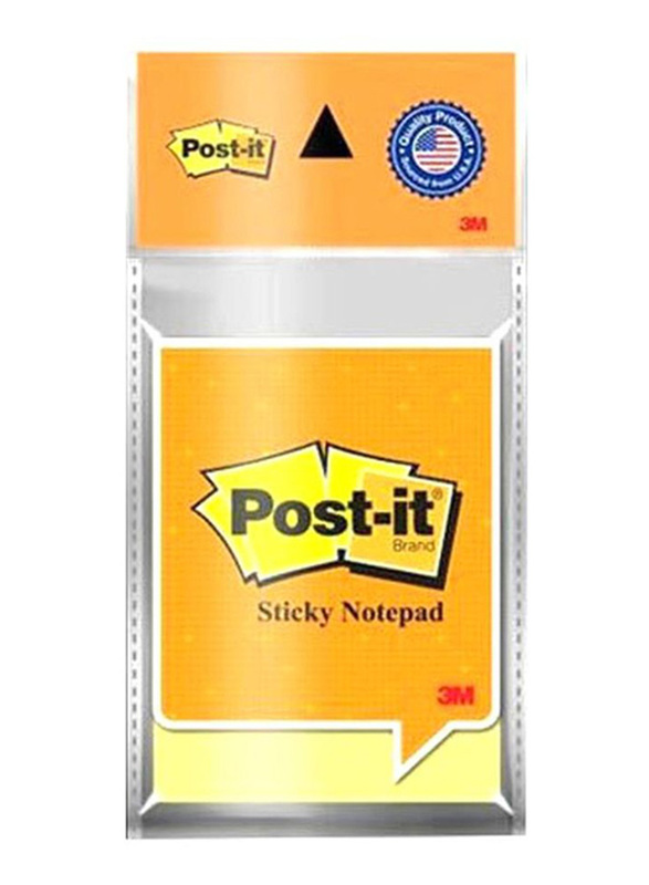 3M Post It Sticky Notes, 51 x 76mm, 100 Sheets, Yellow