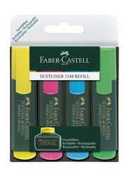 Faber-Castell 4-Piece Textliner Highlighters Set, Multicolour