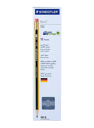 Staedtler 12-Piece HB2 Noris Pencil Set, Yellow/Black
