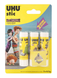UHU Glue Stick, 8.2gm, 3 Pieces, Yellow