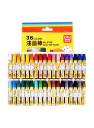 Deli Color Oil Pastel Crayons, 36 Pieces, Multicolor