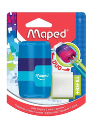 Maped 3-Piece Connect Eraser & Sharpener Set, Multicolor