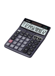 Casio 12-Digit Solar Powered Basic Calculator, Black