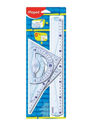 Maped 4-Piece Geometry Maxi Ruler Set, Clear