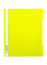 Durable Clear File Folder Set, 50-Piece, Yellow