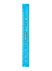 Deli Anti-Slip Foldable Ruler, Blue