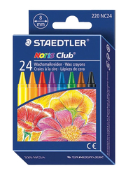 Staedtler Noris Club Wax Crayon, 24-Pieces, Multicolor