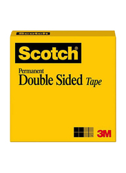 3M Scotch Permanent Double Sided Tape, White