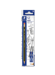 Staedtler Noris Pencil With Rubber, Black/Yellow