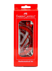 Faber-Castell Elite Geometry Mathematical Set, Red