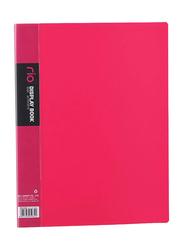 Deli Rio Display Book, 20 Pockets, A4 size, Pink