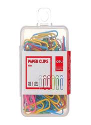 Deli E0024 Paper Clip Set, 100 Piece, Multicolour