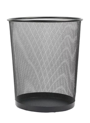 Deli Metal Mesh Waste Basket, 234 x 275 mm, Black