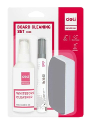 Deli Board Cleaning Set, Grey/White/Red