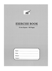 PSI Squared Exercise Notebook, 100 Pages, A5 Size, Grey