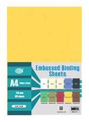 Partner A4 Embossed Binding Sheet, 100 Pieces, Yellow