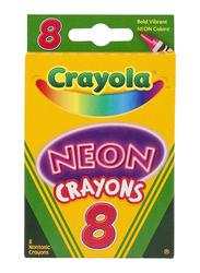 Crayola Count Neon Crayons, 8 Pieces, Multicolor
