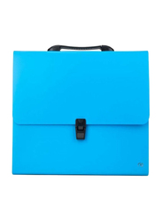 Deli Solid Pattern Expanding File, Blue/Black