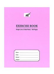 PSI Single Line Exercise Notebook, 100 Pages, Pink