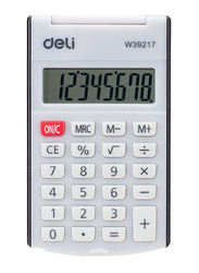 Deli Pocket Calculator with Cover, White