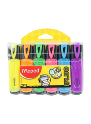 Maped 6-Piece Highlighter Pen Set, MD-742557, Multicolor