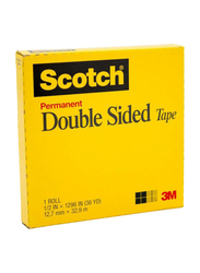 3M Scotch Permanent Double Sided Tape, 12.7mm x 32.92m, Clear