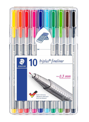 Staedtler 10-Piece Triplus Fineliner Pen Set, Multicolor