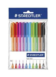 Staedtler 10-Piece Ballpoint Pen Set, Multicolor