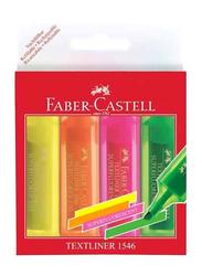 Faber-Castell 4-Piece Chisel Tip Textliner Highlighter Set, Multicolour