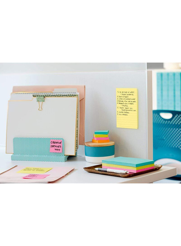 Fantastick Post It Sticky Notes, 4x6 Inch, 90 Pages, Yellow