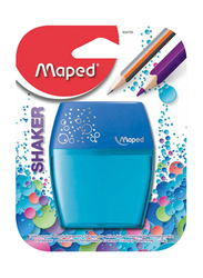 Maped Shaker Two Hole Pencil Sharpener, Blue