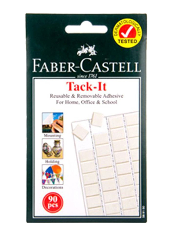 Faber-Castell Tack-It Adhesive, 90 Pieces, White