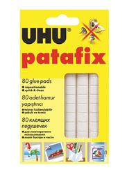 UHU Patafix Glue Pads, 80-Piece, White