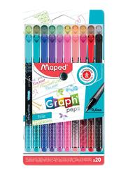 Maped 20-Piece Fineliner Colour Pen Set, Multicolour