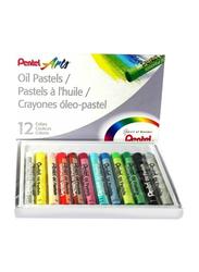 Pentel Arts Oil Pastel Colour Set, 12 Pieces, Multicolour