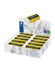 Staedtler 20-Piece Noris Eraser Set, ST-526-N20, White