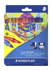Staedtler 24-Piece Noris Fiber Tip Coloring Pen Set, Multicolor