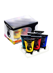 Pentel Arts Acrylic Colour Tube Set, 6 Pieces x 28ml, Multicolour