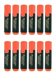 Faber-Castell 12-Piece Textliner 48 Refill Highlighter Pen Set, Orange/Black