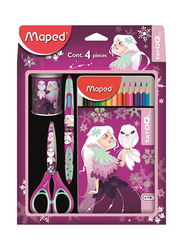 Maped Tatoo School Stationery Set, Pink