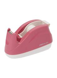Deli Tape Dispenser, Pink/Clear