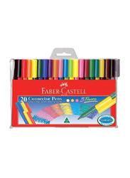 Faber-Castell 20-Piece Connector Pen Set, Multicolour