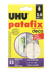 UHU Glue Pads, 32-Pieces, White